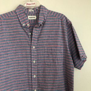 Taylor Stitch Striped Short Sleeve Button Shirt